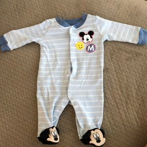 Disney Baby Mickey Mouse Footie Pajama- NB